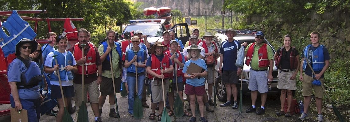 friends of the crooked river group at an outing