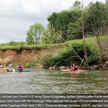 USACE works with Cuyahoga Valley National Park on Cuyahoga River bank stabilization