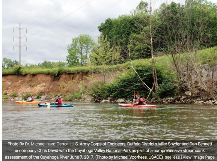 Kayaks on the Cuyahoga